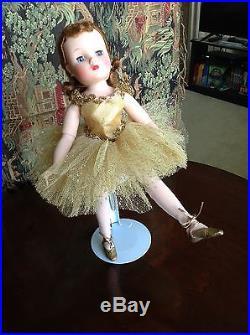 Madame Alexander Elise Gold Ballerina in Gold tutu sequin tiara 1959