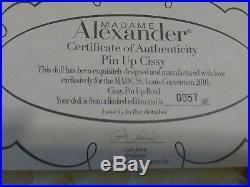 Madame Alexander Glamorous Pin Up 21 Cissy, 2010, articulated, box, tag, COA