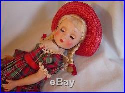 Madame Alexander Hard Plastic Striking Kathy Polly Pigtail W Gold Foil Wrist Tag