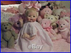 Madame Alexander Kitten 1961 Large 22 Vintage Feltman Bros. Pink Voile Dress