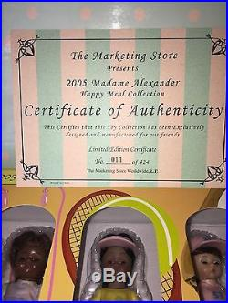 Madame Alexander McDonald's Happy Meal Collection Dolls 2005 MIB
