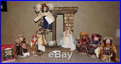 Madame Alexander Nativity (75th Anniversary) with Creche and Keepsake Ornament
