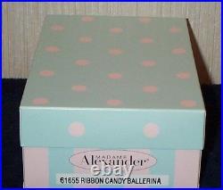 Madame Alexander Ribbon Candy Ballerina 8 Christmas Holiday Doll 61655 NEW NRFB