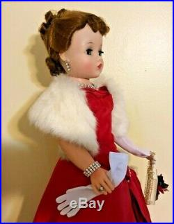 Madame Alexander Vintage Cissy & Red Side Drape Dress