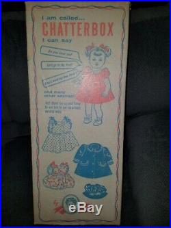 New in Box 1960 24 Madame Alexander Chatterbox Toddler Doll