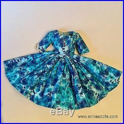 Original Vintage 1958 Madame Alexander Cissy Doll Dress Blue Camellia Variation