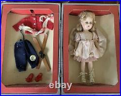 RARE 15-16 MME Alexander ICE SKATING Sonja Henie Doll, Suitcase NRFB