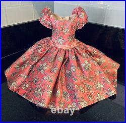 Rare Madame Alexander Cissy Doll BIRD PINK PRINT POLISHED COTTON DAY DRESS