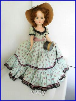 Rare Vintage 1953 Alexander 18 Glamor Girl Picnic Day Hard Plastic Tag All Orig