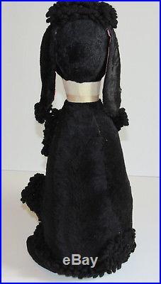 Rare Vintage Large Madame Alexander Black Poodle Plush Toy Doll Figurine Male 16