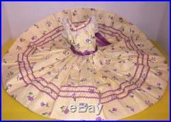 Rare Vintage Madame Alexander Cissy Doll Dress Floral Prints w Rickrack 1957