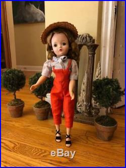 Rare long haired (possibly lady in red) Cissy doll in gardening outfit with hat