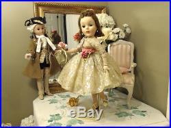 SHARI LEWIS CISSY Madame Alexander 21 1959 ORIGINAL GOLD LACE GOWNSLIPREDHEAD