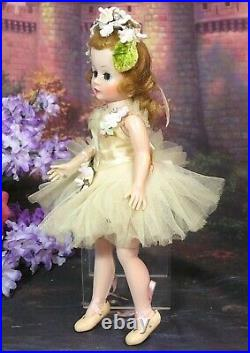 VINTAGE 1950s MADAME ALEXANDER CISSETTE DOLL tagged Pink BALLERINA dress SHOES