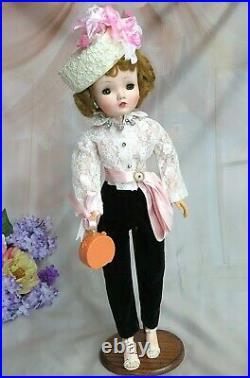 VINTAGE 1950s Madame Alexander CISSY DOLL in TOREADOR pants SUIT pillbox HAT