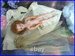 VINTAGE 1956 Madame Alexander CISSY DOLL tagged DRESS veil BRIDE set Redhead