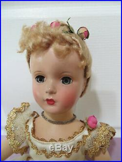 VINTAGE MADAME ALEXANDER 14 NINA BALLERINA DOLL Margaret Face Floss Wig Tag AO