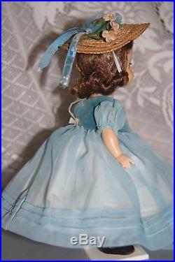 Vintage Madame Alexander Alexanderkins Blue Danube Tagged Dress Brunette Slw