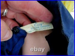 VINTAGE MADAME ALEXANDER CISSY DOLL with BLUE TAFFETA DRESS 19 1/2