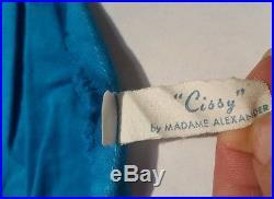 Vintage Madame Alexander Cissy Tagged Blue Rhinestone Party Dress