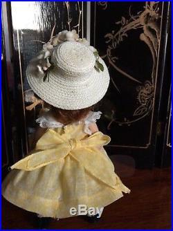 VINTAGE MADAME ALEXANDER WENDY ANN QUIZ-KIN 1953 in a School Dress of 1955 RARE