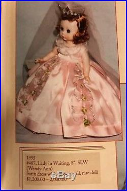VINTAGE Madame Alexander #487 1955 LADY in WAITING 8 SLW RARE Hard To Find