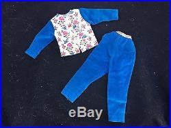 VIntage 1950s Madame Alexander Cissy Blue Velvet Slacks & Matching Top Tagged