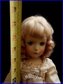 Vintage 1950 Madame Alexander Good Fairy Doll Margaret Face Green Eyes