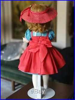 Vintage 1950's Madame Alexander 24 Hard Plastic Binnie Walker Doll Cissy Face
