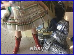 Vintage 1950s Madame Alexander AUSTRIAN COUPLE COMPO OR Hard PLASTIC RARE DOLLS