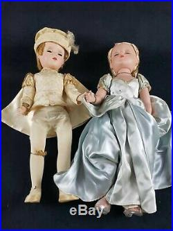 Vintage 1950s Madame Alexander Prince Charming and Cinderella Dolls