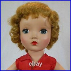 Vintage 1953 Madame Alexander 14 Winnie Walker doll in tagged Binnie outfit