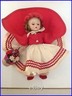 Vintage 1955 Rare Hard to Find Madame Alexander #471 RED RIDING HOOD, SLW