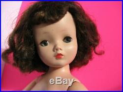 Vintage 1956 Madame Alexander CISSY Doll THICK Brunette, Blue Eyes, Full Lash