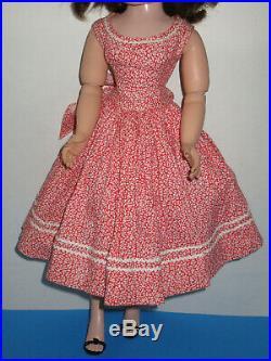 Vintage 1956 Madame Alexander Cissy HTF Sun Dress From FAO Schwartz Trunk Set