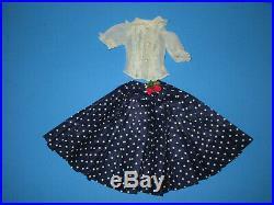 Vintage 1957 Madame Alexander Cissy HTF Navy Polka Dot Skirt & Nylon Blouse