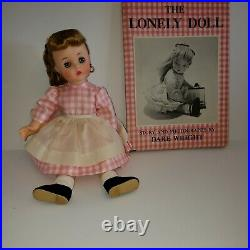 Vintage 1957 Madame Alexander Edith The Lonely Girl Doll with Book, Orig. Box
