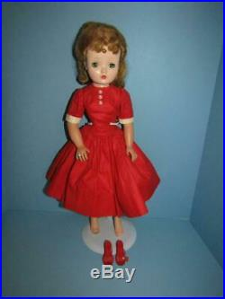 Vintage 20 1950's Lovely Blonde Madame Alexander Cissy Doll Tagged Red Outfit