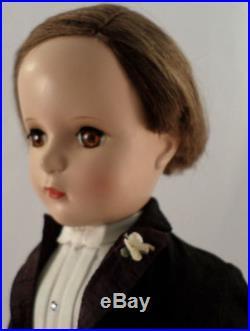 Vintage 50S Plastic Madame Alexander 18 Htf Groom Doll Margaret Face Brown Eyes