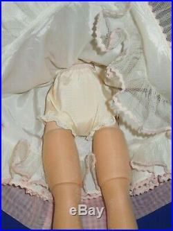 Vintage 50s Madame Alexander 20 Cissy doll in pink nylon dress (1957)