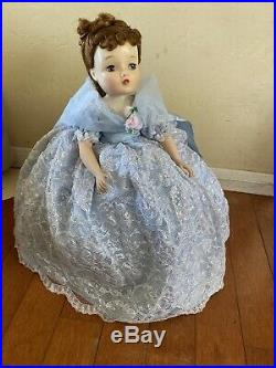 Vintage MADAME ALEXANDER CISSY 20 Doll Tagged Blue Lace Gown