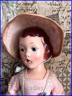 Vintage MIB Mint In Box Madame Alexander Composition Wendy Ann Doll Painted Eyes
