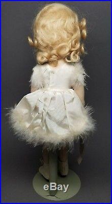 Vintage Madame Alexander 14in Sonja Henie Doll Skater Composition Original Dress