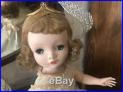 Vintage Madame Alexander 18 Winnie Binnie Wedding Bride Doll