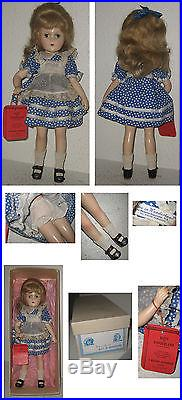 Vintage Madame Alexander Alice In Wonderland Doll Hangtag Original Box