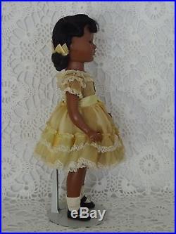 Vintage Madame Alexander Black Cynthia Walker Doll, 50's, Tagged/All Original, EC