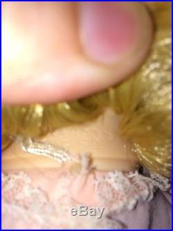 Vintage Madame Alexander Blonde Baby McGuffey Baby Doll 1962 Pink Dress 19 HTF