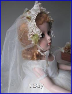 Vintage Madame Alexander Bride Doll Margaret Face Stunning
