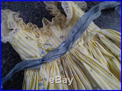 Vintage Madame Alexander CISSY Doll Dress Yellow Sundress Rhinestone Bodice