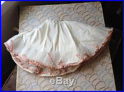 Vintage Madame Alexander Cissy Blue And White Floral Dress And Underskirt RARE